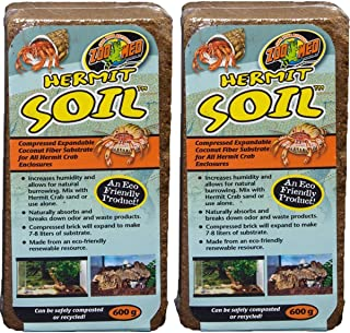 Zoo Med Hermit Soil Coconut Fiber Brick 600g (2 Pack)