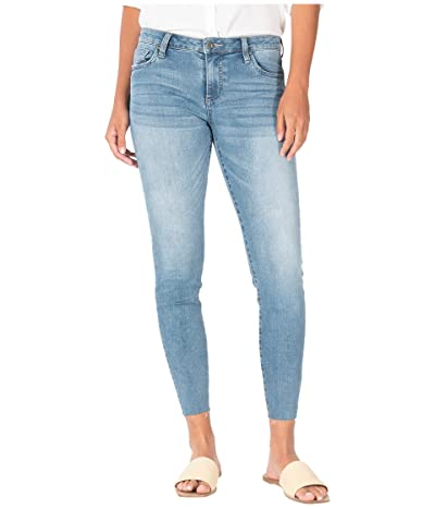 KUT from the Kloth Connie Crop Skinny with Raw Hem in Adaptive/Medium Base Wash (Adaptive/Medium Base Wash) Women