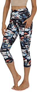 ODODOS Women's High Waisted Yoga Capris with Pockets,Tummy Control Non See Through Workout Sports Running Capri Leggings