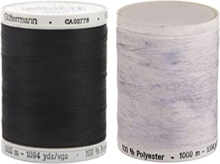 2-Pack - One Black + One White - Sew-All Thread Bundle - 1094 Yards each