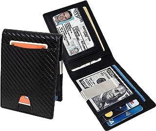 Men's Slim Wallet for Money and Card Carbon Fiber Lightweight RFD Blocking