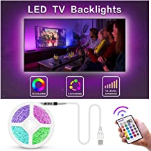 Bason TV LED Backlight, 13.09ft USB Led Lights Strip for TV/Monitor Backlight, Led Strip Light with Remote, TV Bias Lighting for Room Home Movie Decor.(60-70inch)