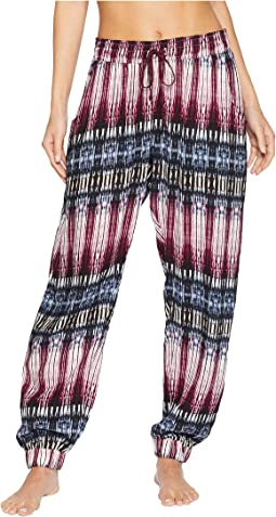 Night Sky Printed Crop Pajama Pants