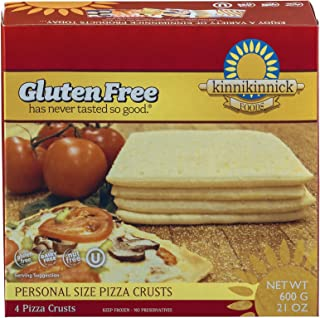 Kinnikinnick Gluten Free Personal Size Pizza Crust, 21 Ounce [4 Pack]