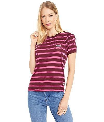 Vans Lee Suh Stripe Short Sleeve Tee (Port Royale/Cabernet) Women