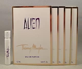 5 Thierry Mugler Alien EDP 1.2 Ml/0.04 Oz Spray Sample Vial for Women