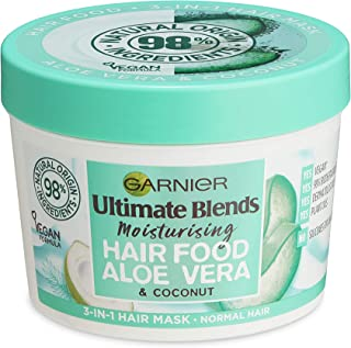 Garnier Ultimate Blends Hair Food Aloe 3-in-1, Moisturising Hair Mask, Conditioning Treatment, Leave-in Conditioner for No...
