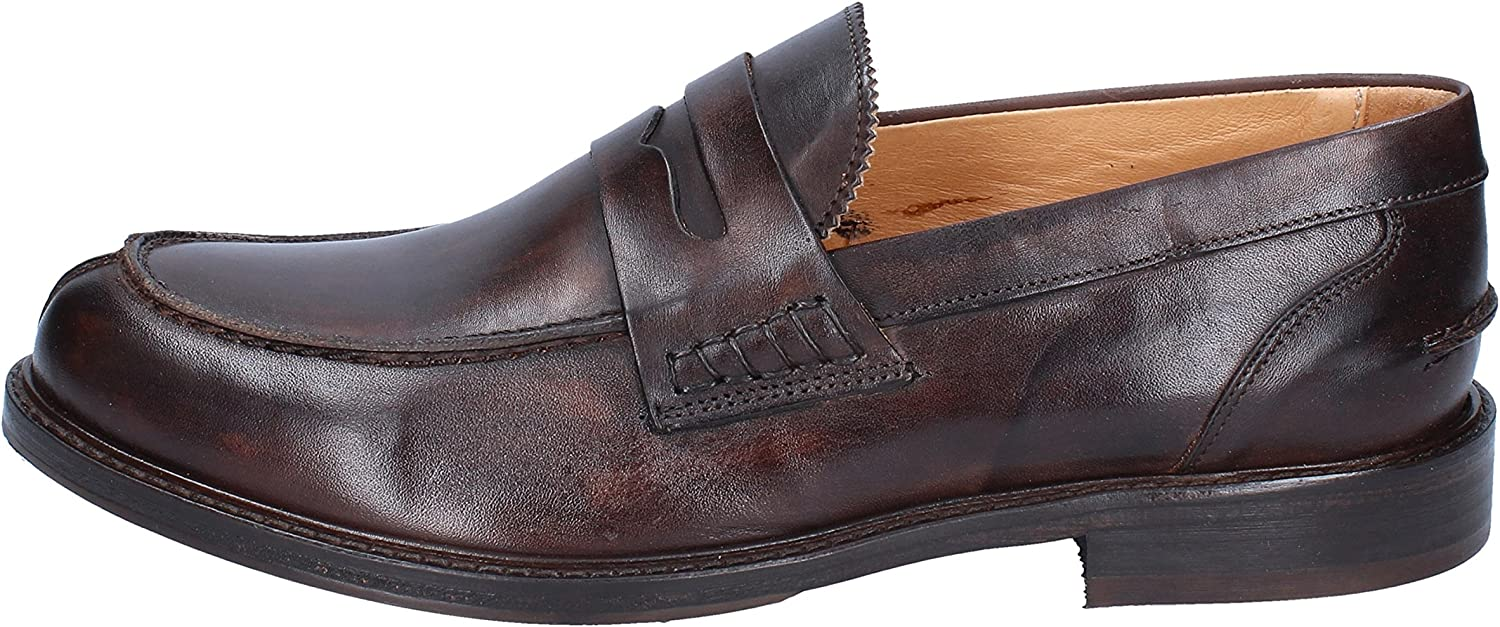 BRUNO VERRI Loafers-shoes Mens Leather Brown