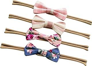 Sweet Valentina Set 4 Bow Headband - Baby headband lace bow - Headband Bow Set