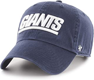 '47 New York Giants Throwback Logo Clean Up Adjustable Hat - Navy