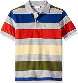 Lacoste Boy Colorful Striped Pique Polo