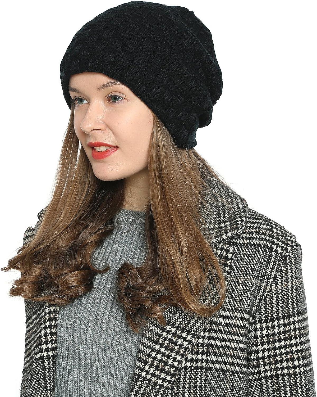 DonDon Bonnet dhiver Beanie Slouch Style pour Dames Femme avec Doublure tr/ès Douce et Confortable /à Porter