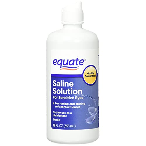 Equate Contact Lens Saline Solution for Sensitive Eyes, Twin Pack, 12 Fl Oz, 24 Total Oz (Compare to Bausch.