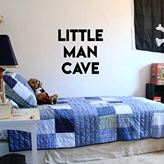 "Vinyl Wall Art Stickers for Baby Boys Nursery Room - Little Man CAVE - 20"" x 20"" - Boys Bedroom Vinyl Wall Decor - Cute Wa..."