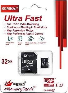 eMemoryCards 32GB Ultra Fast 80MB s MicroSD Memory Card for Alcatel PI...