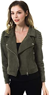 plus size jacket with leather sleeves