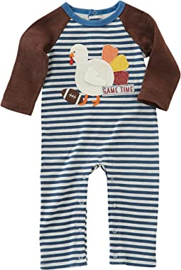 Mud Pie - Thanksgiving Football One-Piece (Infant)
