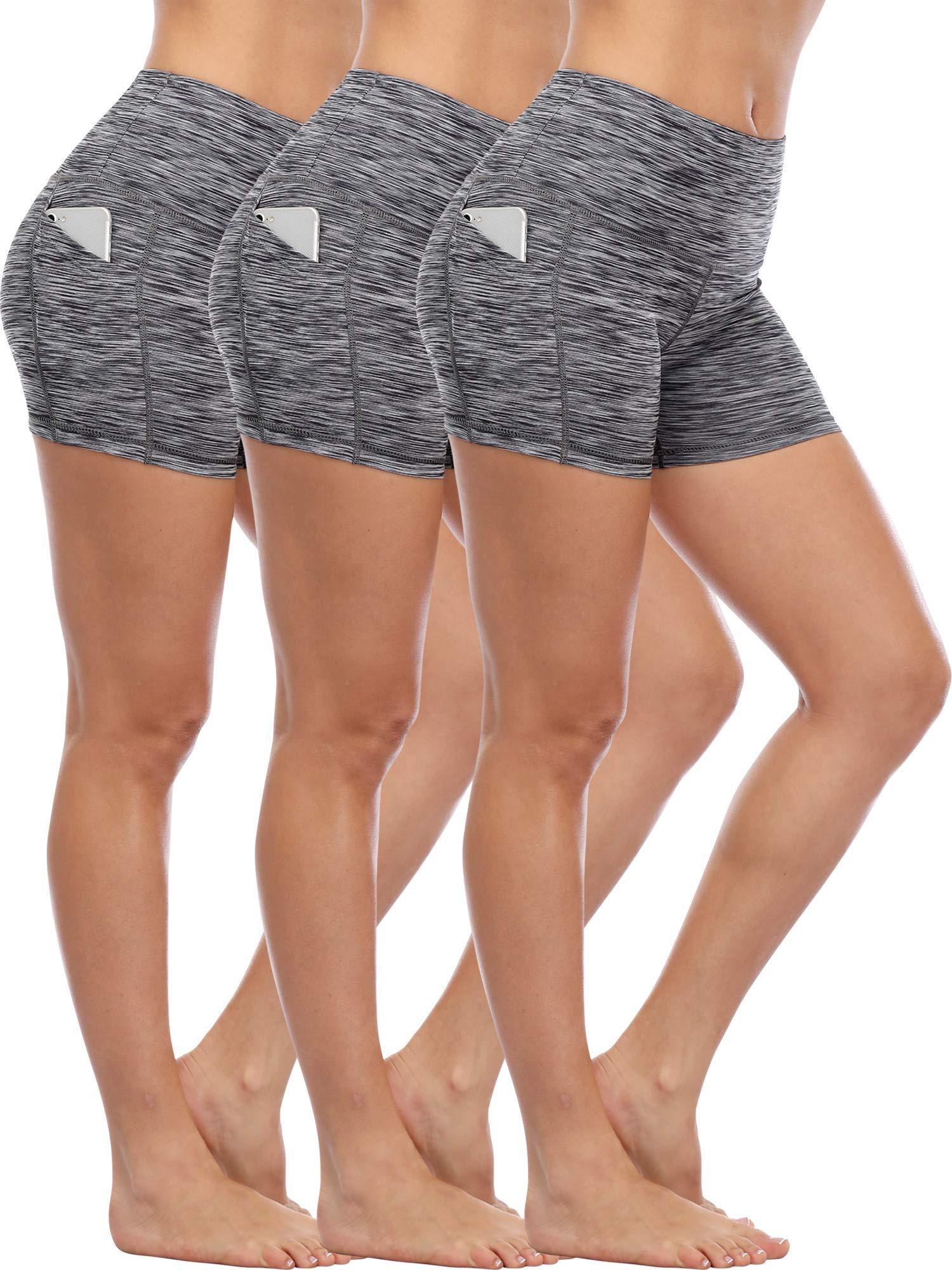 Cadmus Womens High Waist Running Workout Short Out Pockets