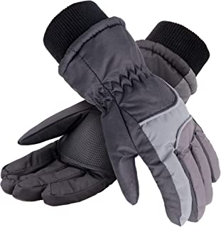 Thinsulate Cotton Kid's Windproof Waterproof Snow Ski Gloves