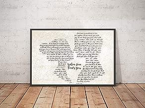 Mattata Decor Gift When Love Finds You Song Lyrics Landscape Poster Print (18