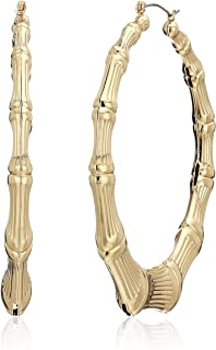 Guess Metal Hoops Women's Bamboo Hoop Earrings, Gold, One Size