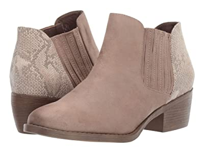 Seychelles BC Footwear By Seychelles Preach (Taupe V-Suede/Natural Exotic) Women