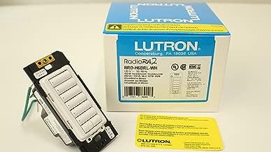 Lutron RRD-H6BRL-WH Radiora2 Neutral Wire Dimmer Hybrid Keypad 120 Volt AC White