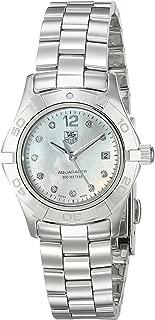 Women's WAF1415.BA0824 Aquaracer 28mm Stainless Steel Diamond Dial Watch
