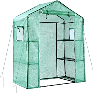 Ohuhu Greenhouse for Outdoors with Observation Windows New Version, Small Walk-in 3 Tiers 6 Shelves Stands Plant Green Hou...