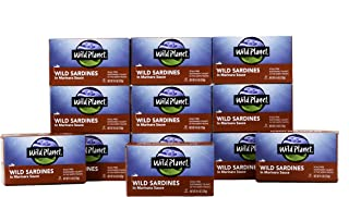 Wild Planet Wild Sardines in Marinara Sauce, Keto and Paleo, 4.4 Ounce (Pack of 12)