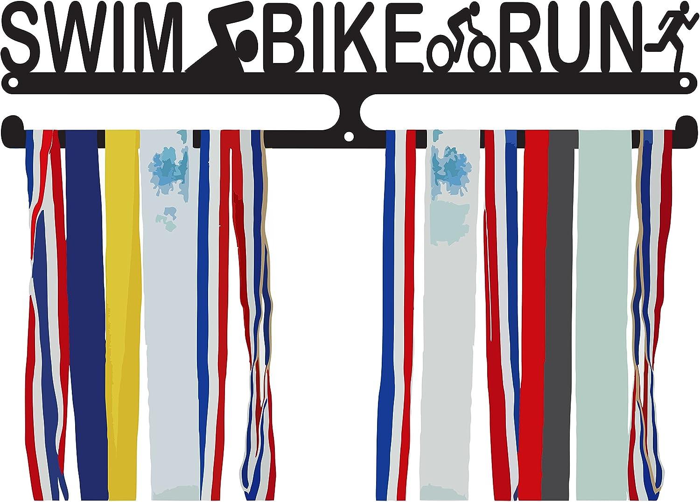 Triathlon Medal Hanger  Swim Bike Run