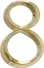 Whitehall Products Classic 6 Inch number 8 Polished Brass, 6 Inch
