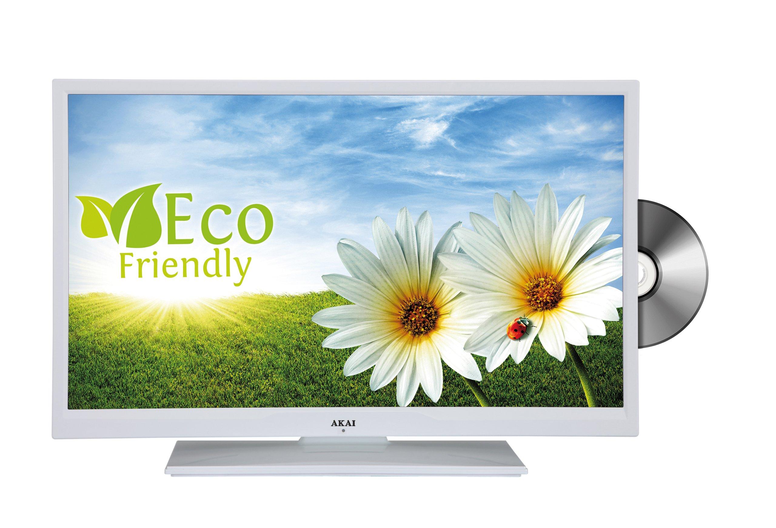 Akai aled26 09twe 66 cm (26 pulgadas) – Televisor con retroiluminación LED (HD Ready, DVB-T/-C, DVD, USB 2.0), color blanco mate: Amazon.es: Electrónica