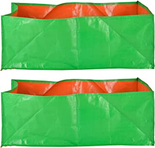 """YUVAGREEN Terrace Gardening Leafy Vegetable Green Grow Bag (18"""" X 12 """" X 9"""" ) - (Pack Of 2)"""