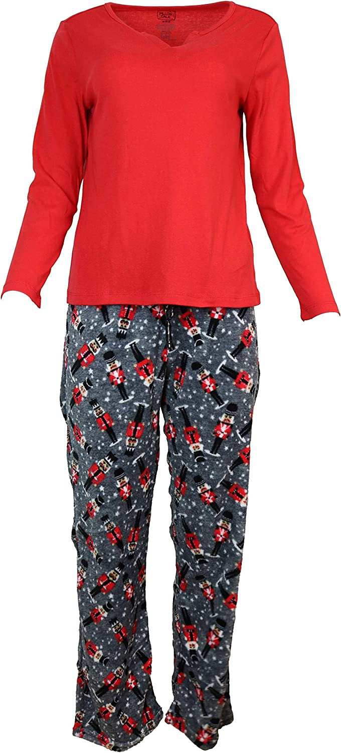 Pillow Talk Women's Christmas Holiday 70% OFF Outlet Pajamas and Sock Fuzzy Super Special SALE held Set