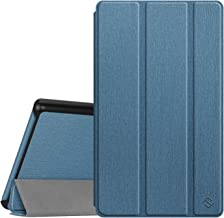 Fintie Slim Case for All-New Amazon Fire 7 Tablet (9th Generation, 2019 Release), Ultra Lightweight Slim Shell Standing Cover with Auto Wake/Sleep, Twilight Blue