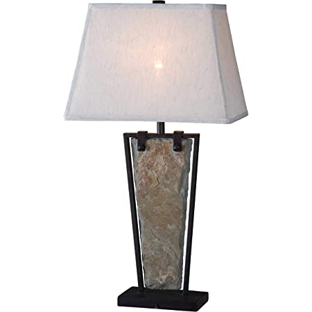 Kenroy Home Rustic Table Lamp 30 Inch Height 16 Inch Length 12 Inch Width With Natural Slate Finish