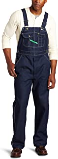 Key Apparel Men's Garment Washed Zip Fly High Back Bib Overall