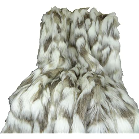 Amazon Com Thomas Collection Ivory Faux Fur Throw Blanket Bedspread Tibet Fox Fur Ivory Beige Luxury Faux Fur Throw Blanket Luxury Soft Faux Fur Handmade In Usa 16445 Kitchen Dining