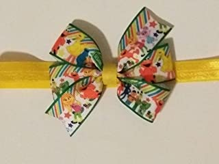 Sesame Street inspired hair bow, elmo, cookie monster, big bird hair bow, Puppet Sesame street baby headband