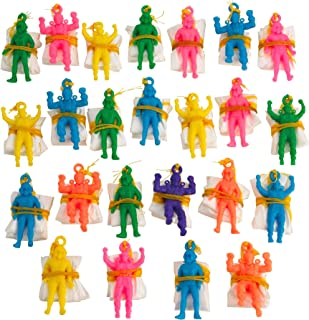 Kicko Mini Vinyl Paratroopers - Pack of 24-1.75 Inches Assorted Colors Cool Airborne Action Figures - for Kids Party Favors, Bag Stuffers, Fun, Toy, Prize