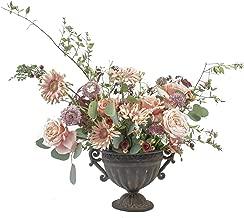 NCYP Vintage Roman Style Metal Vase Grecian Urn Planter Chalice Shape Iron Flower Pot with Handles Wedding Tabletop Home Office Centerpiece Decor