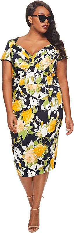 Unique Vintage - Plus Size St. Pierre Wiggle Dress
