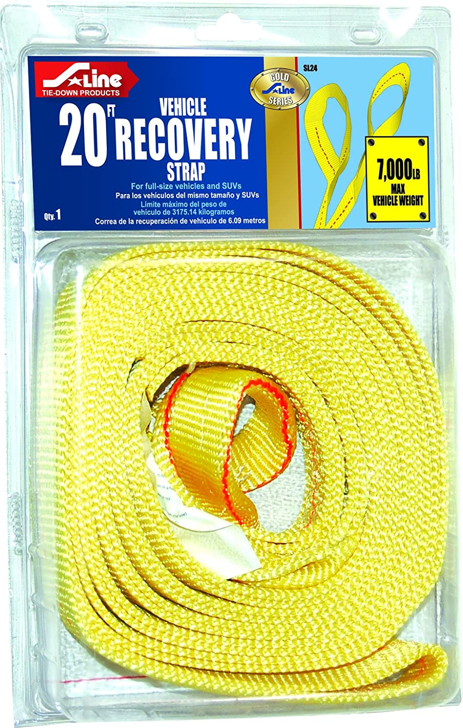 S-Line SL24 Recovery High quality Strap with Twisted 20-Feet Max 85% OFF by 2-Inch Loops