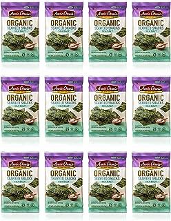 Annie Chun's Organic Seaweed Snacks, Sea Salt, 0.16 oz (Pack of 12), America's #1 Selling Seaweed Snacks