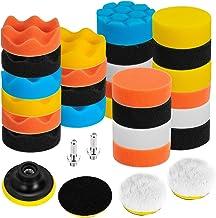 Ventvinal - Juego de 31 esponjas de pulido para coche, para taladro atornillador inalámbrico y pulidora M10