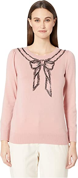 Dashing Beauty Embellished Bow Sweater