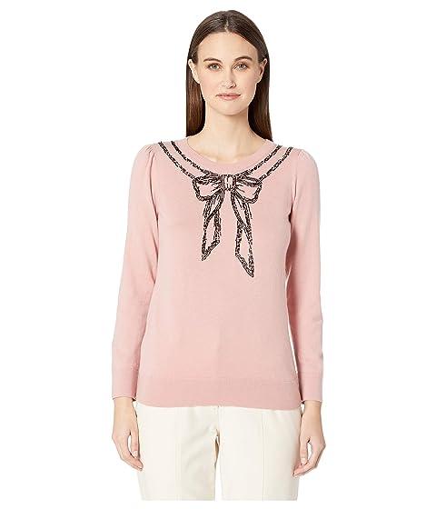 Kate Spade New York Dashing Beauty Embellished Bow Sweater