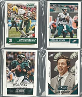 2014, 2015, 2016 & 2017 Panini Score (57) Card Philadelphia Eagles 4 Team Set Lot Gift Pack Bag W/ Rookies Carson Wentz Rookie Card