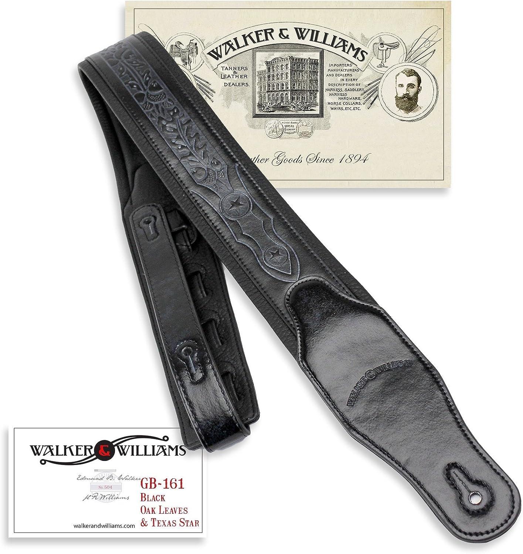 Walker Williams GB-161 Black Padded Strap Oak with Save money Guitar Max 50% OFF Leav